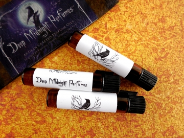 PERFUME SAMPLES by Deep Midnight Perfumes, CHOOSE Your Own Sampler Set of 3 Vials