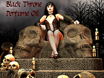 BLACK THRONE™ Perfume Oil - Black Opium Accord, Oriental Florals, Teakwood, Patchouli, Vanilla, Dark Tea - Gothic Perfume