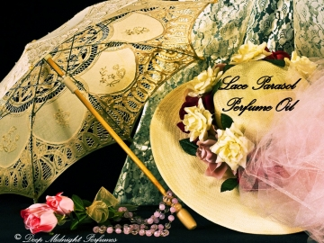 LACE PARASOL™ Perfume Oil - Champagne and Flowers Fragrance - Victorian Perfume