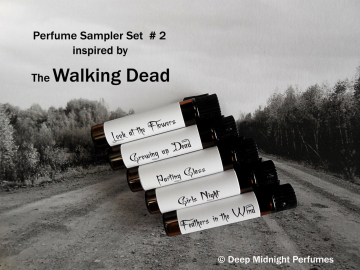 WALKING DEAD inspired PERFUME Sampler - Set # 2
