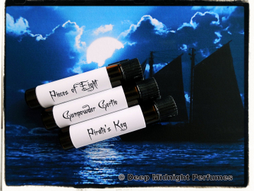 PIRATES BOOTY™ Perfume Sample Set - three Mini Vials - Perfume Oil - Pirate Perfume - Black Sails