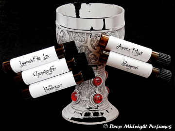 LEGENDS Of The GRAIL PERFUME Sample Set - Medieval Perfume - Merlin - King Arthur - Pendragon - Avalon