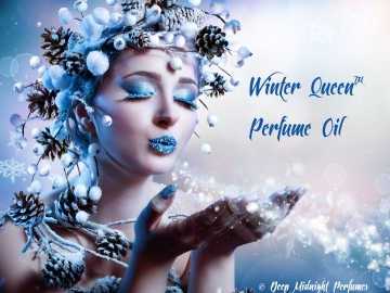 WINTER QUEEN™ Perfume Oil - Chocolate, Snow Crystals, Peppermint, Spruce, Ozone, Sugared Violets- Winter Perfume - Christmas Perfume
