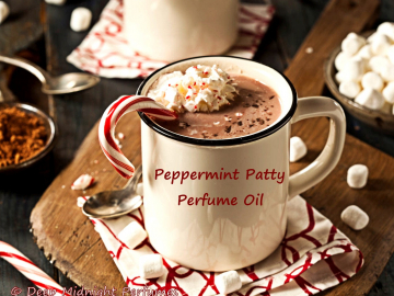 PEPPERMINT PATTY Perfume Oil - Chocolate Cocoa, Peppermint, Sugar Crystals, Spruce, Ozone, Berries - Christmas Perfume - Holiday Fragrance
