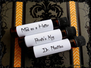 Steampunk Men Perfume Sample Set: Set of 3  mini vials - Mens Fragrance - Steampunk Perfume