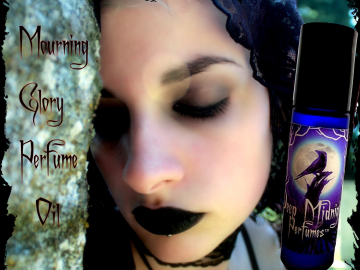 MOURNING GLORY™ Perfume Oil - Funeral Lilies, Vetiver, Woods, Wet Soil, Rain - Gothic Perfume - Victorian Mourning Perfume