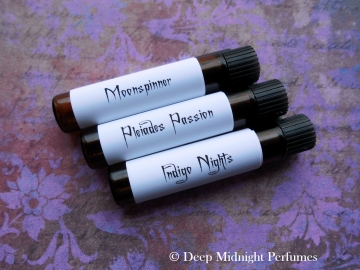 MYSTICAL GIRLS™ Perfume Sampler Set - Three Sample Vials - Deep Midnight Perfumes - Fantasy Perfume