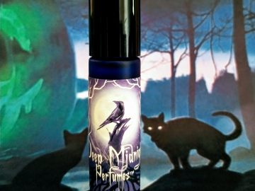 NEW! Spirits and Cats™ Perfume Oil - Sweet Pumpkin, Cherrywood, Cream, Frankincense, Ripe Peaches, Fall Spices - Halloween Perfume - Fall Fragrance