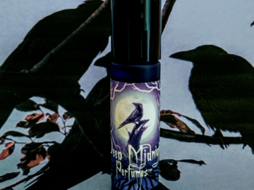 NEW! THREE FOR A DIRGE™ Perfume Oil - Black Roses, Black Amber, Galbanum, Patchouli, Aged Oak - Halloween Perfume - Fall Fragrance